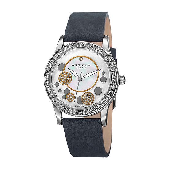 Akribos XXIV Womens Gray Strap Watch-A-843bu