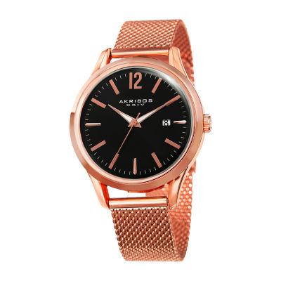 Akribos XXIV Mens Rose Goldtone Bracelet Watch-A-920rg