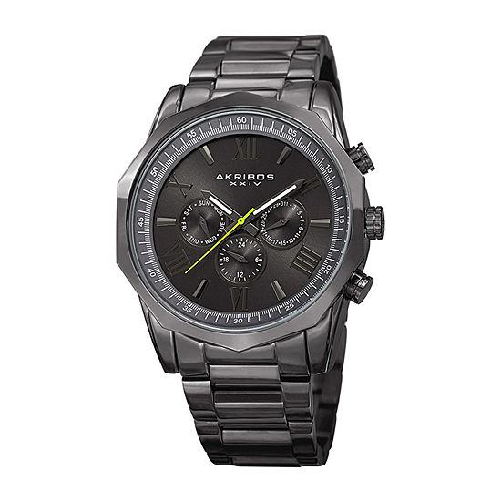 Akribos XXIV Mens Gray Bracelet Watch-A-940gn