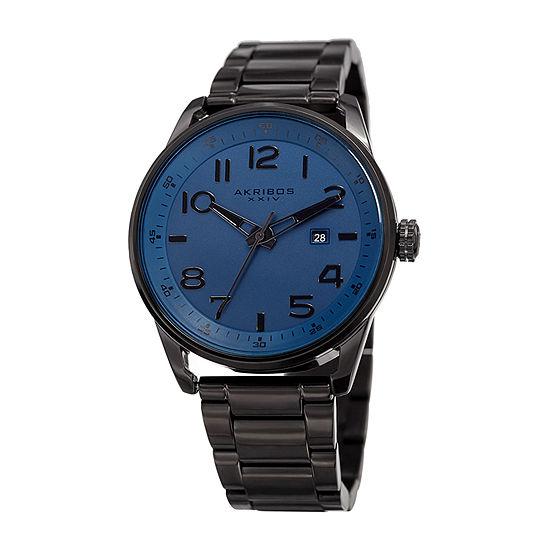 Akribos XXIV Mens Black Bracelet Watch-A-956bu