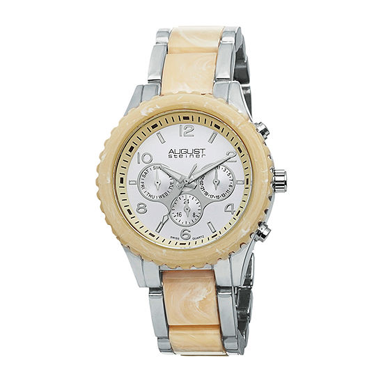 August Steiner Mens Two Tone Bracelet Watch-As-8093ss