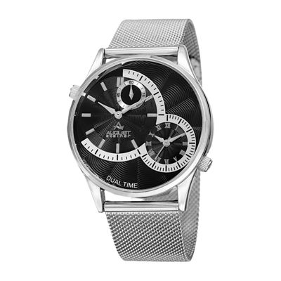 August Steiner Mens Silver Tone Bracelet Watch-As-8168ssb