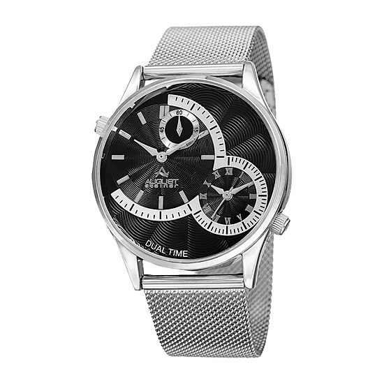 13783a8ad1419 August Steiner Mens Silver Tone Bracelet Watch-As-8168ssb - JCPenney