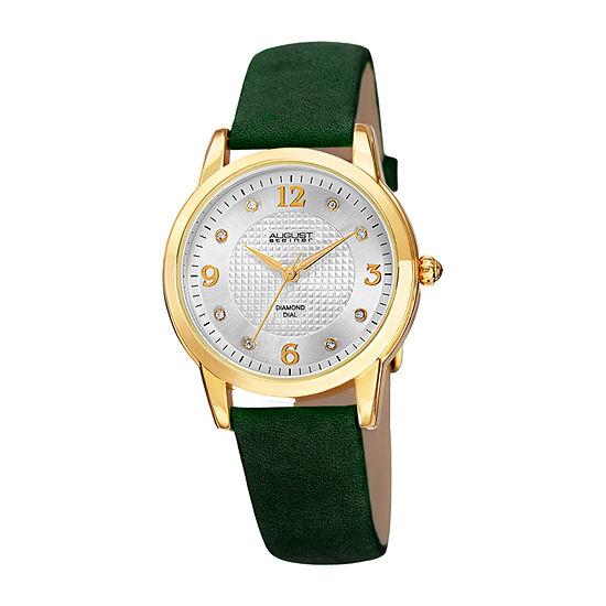 August Steiner Womens Green Strap Watch-As-8198gn
