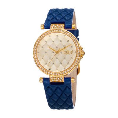 Burgi Womens Blue Strap Watch-B-154bu