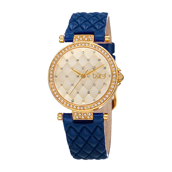 Burgi Womens Blue Strap Watch B 154bu
