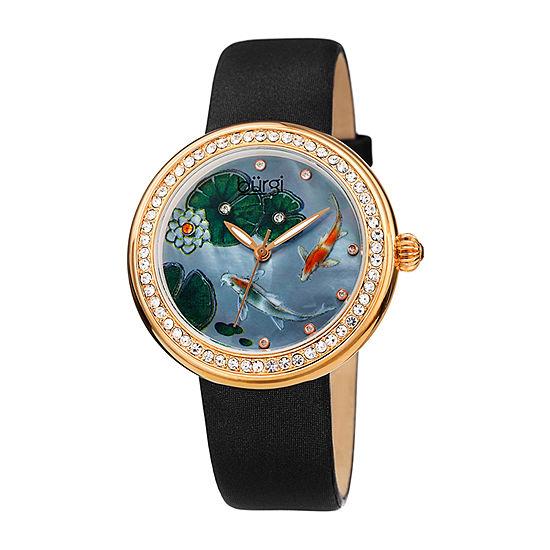 Burgi Womens Black Strap Watch-B-188bk