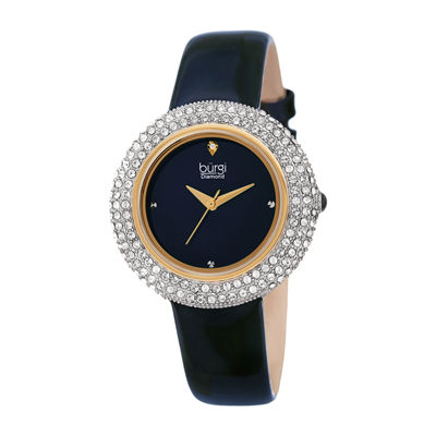 Burgi Womens Blue Strap Watch-B-199bu
