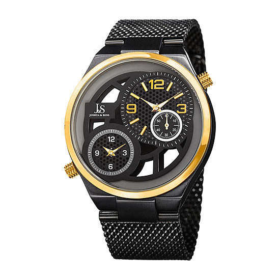 Joshua & Sons Mens Black Bracelet Watch-J-111bkg