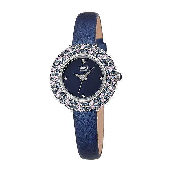 Burgi Womens Blue Strap Watch-B-240bu
