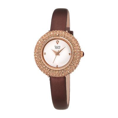 Burgi Womens Brown Strap Watch-B-240br