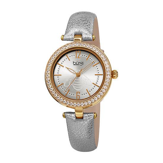 Burgi Womens Gold Tone Strap Watch-B-235yg