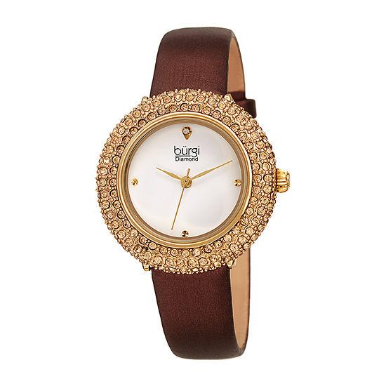 Burgi Womens Brown Strap Watch B 227br