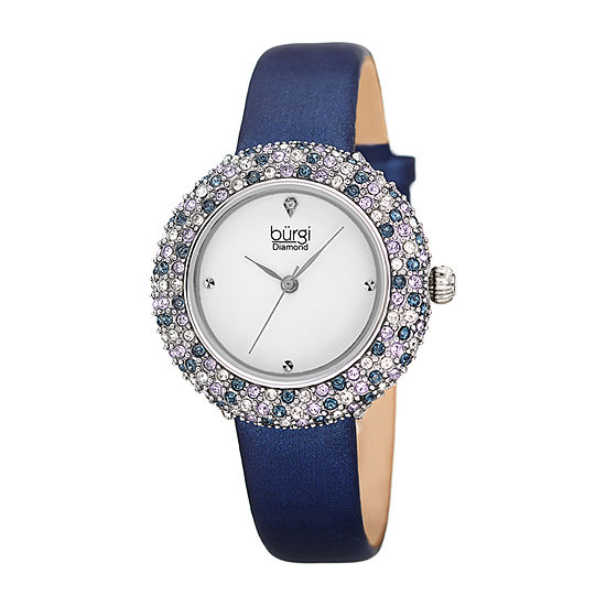 Burgi Womens Blue Strap Watch-B-227bu