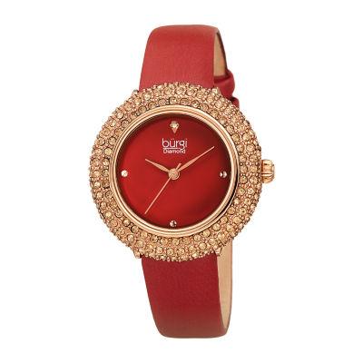 Burgi Womens Red Strap Watch-B-227bur