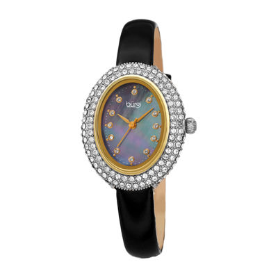Burgi Womens Black Strap Watch-B-234bk