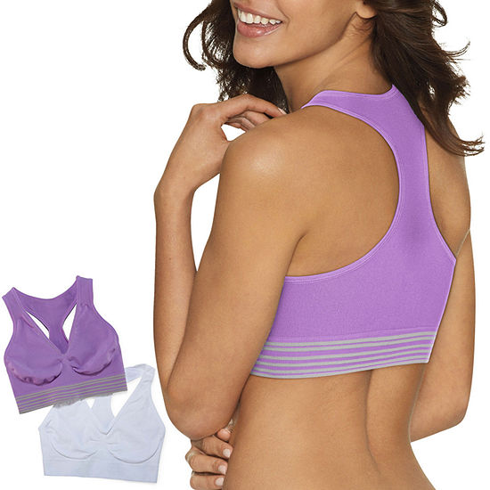 Hanes Get Cozy Pullover Comfortflex Fit® 2-Pack Wireless Racerback Full Coverage Bra-Dhhb39