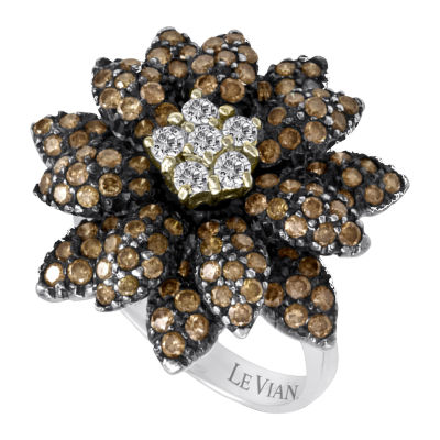 Grand Sample Sale™ by Le Vian® 2 1/5 CT. T.W. Chocolate Diamonds® and Vanilla Diamonds® Ring in 14K Vanilla Gold®
