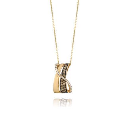 Grand Sample Sale™ by Le Vian® 3/8 CT. T.W. Vanilla Diamonds® and Chocolate Diamonds® Pendant in 14K Honey Gold™