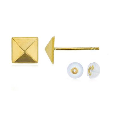 14K Gold 6.3mm Stud Earrings