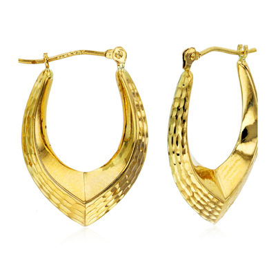 14K Gold 24mm Hoop Earrings
