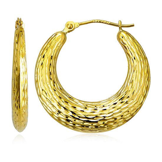 14K Gold 24mm Hoop Earrings