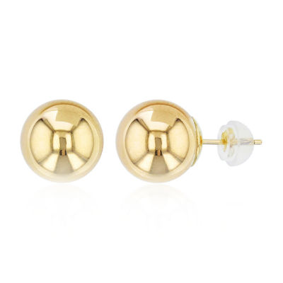 14K Gold 7mm Stud Earrings