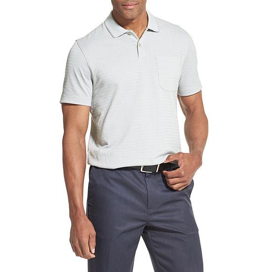 Van Heusen Flex Short Sleeve Stripe Knit Polo Shirt