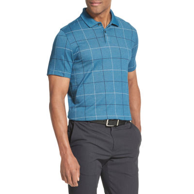 Van Heusen Flex Polo Short Sleeve Windowpane Knit Shirt
