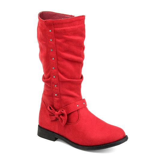 Journee Merida Little/Big Kid Girls Block Heel Zip Riding Boots