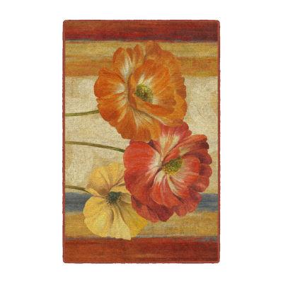 Brumlow Poppy Tapestry Printed Rectangular Indoor Rugs