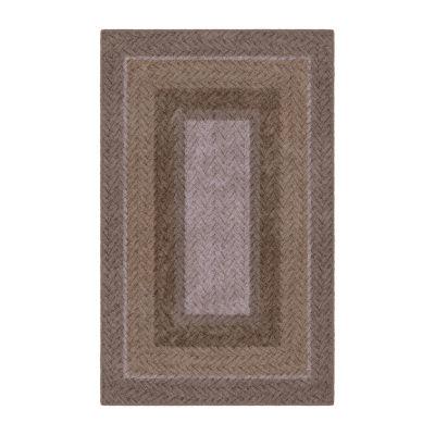 Brumlow Neutral Braid Printed Rectangular Indoor Rugs