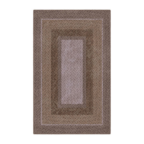 Brumlow Neutral Braid Printed Rectangular Indoor Rugs