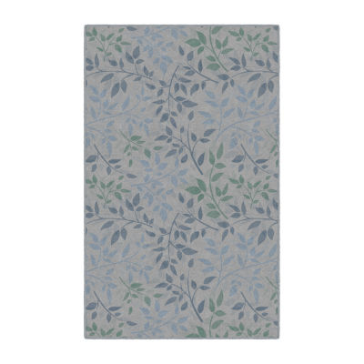 Brumlow Tranquil Leaves Printed Rectangular Indoor Rugs