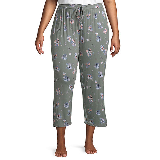 Ambrielle Womens-Plus Pajama Pants