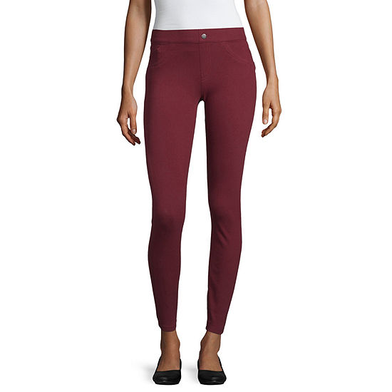 Utopia By Hue Classic Denim Womens 7/8 Ankle Leggings