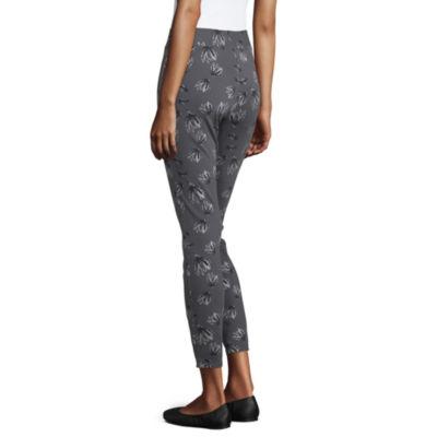 Utopia By Hue Printed Denim Womens Mid Rise Skinny Legging