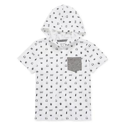 Okie Dokie Boys Hooded Neck Short Sleeve T-Shirt-Toddler