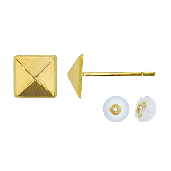 14K Gold 6.3mm Stud Earrings