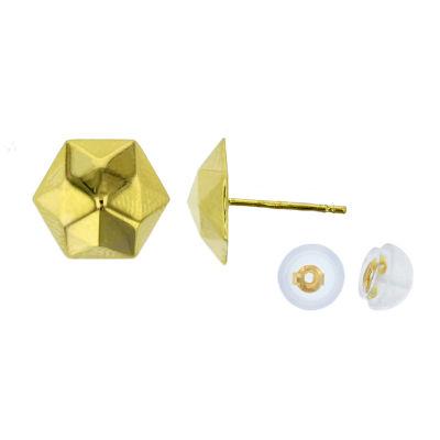 14K Gold 10.5mm Stud Earrings