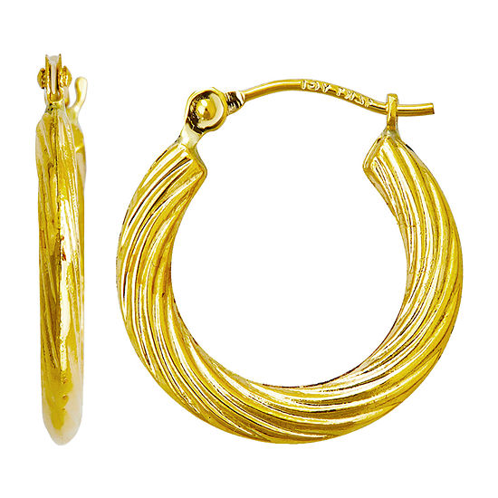 14K Gold 17mm Hoop Earrings