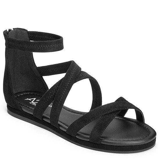 A2 by Aerosoles Womens Pin Drop Criss Cross Strap Flat Sandals