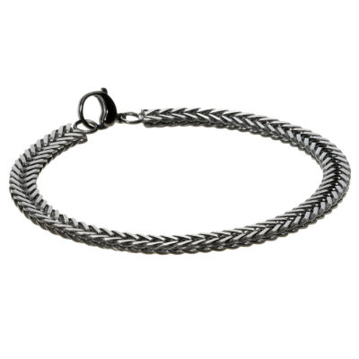 Stainless Steel 8 1/2 Inch Solid Herringbone Chain Bracelet
