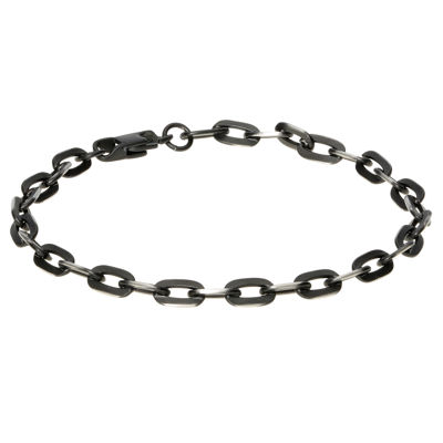 Stainless Steel 8 1/2 Inch Solid Link Chain Bracelet