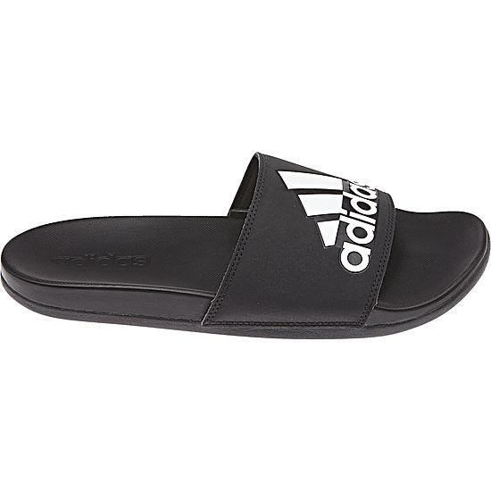 0541ac46447b adidas Adilette Cloudfoam + Logo Mens Slide Sandals JCPenney