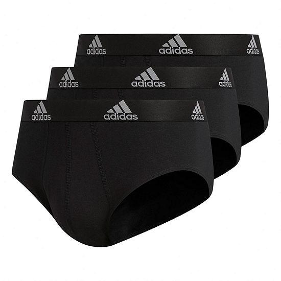 adidas 3-Pair Performance Stretch Cotton Briefs