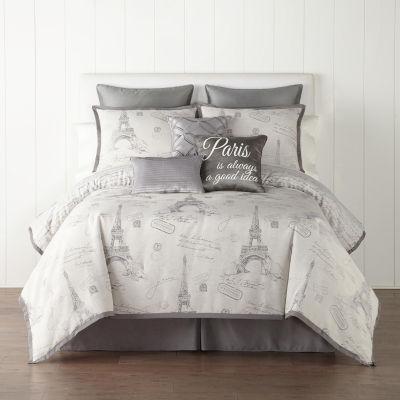 JCPenney Home Paris 7-pc. Jacquard Comforter Set