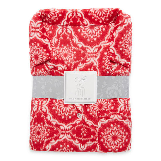 Adonna Long Sleeve Womens Pant Pajama Set 2-pc.