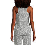 Jaclyn Womens Sleeveless Scoop Neck Knit Nightshirt