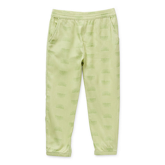 Okie Dokie Little Girls Cinched Jogger Pant